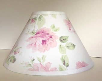 Rachel Ashwell Pink Roses Children's Fabric Lamp Shade/Children's Gift FREE SHIPPING
