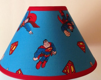 Superman Fabric Childrens Lamp Shade/Children's Gift FREE SHIPPING