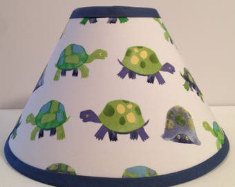 Turtles Children's Fabric Lamp Shade/Turtle Lampshade/Baby Gift FREE SHIPPING