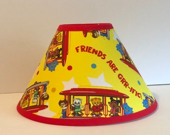 Daniel Tiger Trolley Yellow Children's Fabric Lamp Shade/Children's Gift FREE SHIPPING