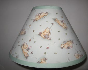 Classic Winnie the Pooh Fabric Nursery Lamp Shade/Light Green/Baby Shower Gift/Lampshade/Baby Gift FREE SHIPPING