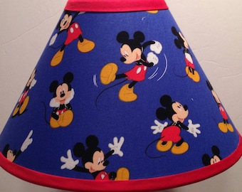 Disney Mickey Mouse Blue Fabric Children's Lamp Shade/Children's Gift FREE SHIPPING