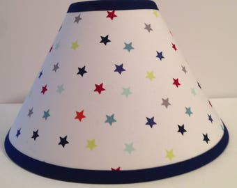 Stars  Fabric Children's Lamp Shade/Stars Lampshade/Stars Nursery Lamp Shade/Children's Gift FREE SHIPPING