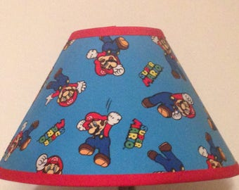 Super Mario Fabric Childrens Lamp Shade/Children's Gift FREE SHIPPING