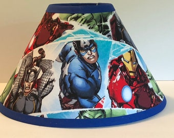 Marvel Avengers Superheroes Fabric Childrens Lamp Shade/Children's Gift FREE SHIPPING