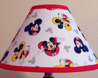 Disney Mickey Mouse Fabric Children's Lamp Shade/Children's Gift FREE SHIPPING