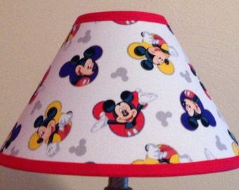 Disney lamp shade etsy disney mickey mouse fabric childrens lamp shadechildrens gift aloadofball Images