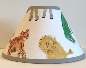 Silly Safari Children's Fabric Lamp Shade/Children's Gift FREE SHIPPING