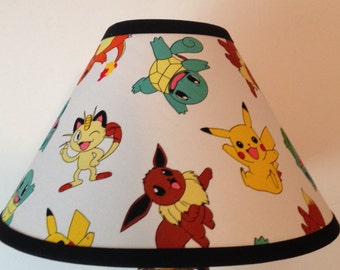 Pokemon Custom Fabric Children's Lamp Shade/Children's Gift FREE SHIPPING