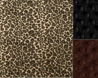 Personalized Minky Cheetah Baby Blanket /Lovey/Taggie/ Stroller Blanket/Shower Gift FREE SHIPPING