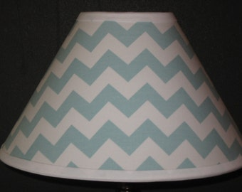 Turquoise/Aqua Chevron Children's  Fabric Lamp Shade/Children's Gift FREE SHIPPING