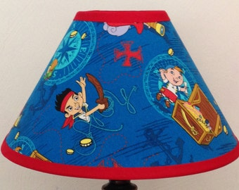 Jake and the Neverland Pirates Fabric Children's Lamp Shade/Children's Gift FREE SHIPPING