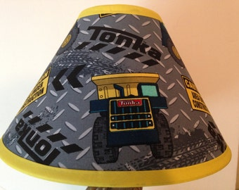 Tonka Truck Children's Fabric Lamp Shade/Children's Gift FREE SHIPPING