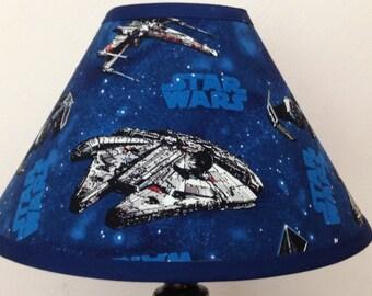 Star Wars Starships Children's Fabric Lamp Shade/Children's Gift FREE SHIPPING