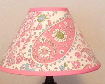 Paisley Pink Brooklyn Children's Fabric Lamp Shade/Children's Gift FREE SHIPPING