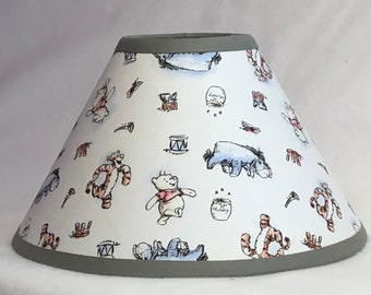 Classic Winnie the Pooh Fabric Nursery Lamp Shade /Baby Gift FREE SHIPPING