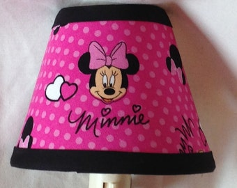 Disney Minnie Mouse Pink Fabric Children's Night Light/Children's Gift FREE SHIPPING