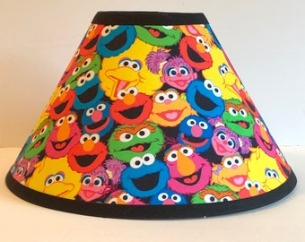 Sesame Street Faces Children's Fabric Lamp Shade/Children's Gift FREE SHIPPING