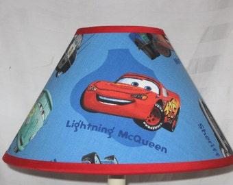 Disney Cars Children's Fabric Lamp Shade/Children's Gift FREE SHIPPING