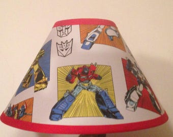 Transformers Fabric Children's Lamp Shade/Children's Gift FREE SHIPPING