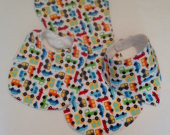 Baby Boy Bib/Burp Cloth Gift Set /Cars/Create Your Own Baby Shower Gift