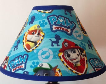 Paw Patrol Children's Fabric Lamp Shade/Children's Gift FREE SHIPPING