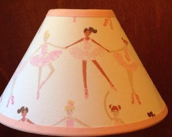 Ballerina Fabric Children's Lamp Shade/Children's Gift FREE SHIPPING