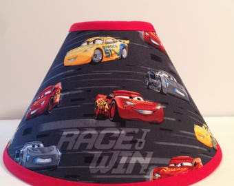 Disney Cars Children's Fabric Lamp Shade/Children's Gift FREE SHIPPING