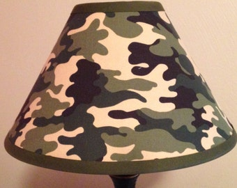 Camouflage Children's Fabric Lamp Shade/Children's Gift FREE SHIPPING