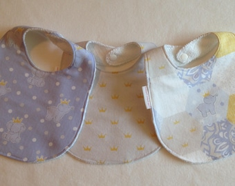 Baby Boy Bib/Burp Cloth Gift Set/ Daisy Kingdom Elephants/Custom Baby Shower Gift