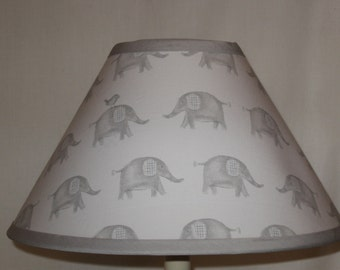 Taylor Elephant Fabric Nursery Lamp Shade/Baby Gift FREE SHIPPING