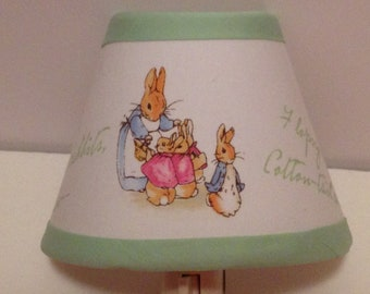 Beatrix Potter Peter Rabbit Fabric Nursery Night Light/Baby Shower GiftFREE SHIPPING