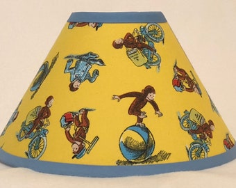Curious George Children's Fabric Lamp Shade/Children's Gift FREE SHIPPING