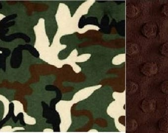 Personalized Camouflage Minky Baby Blanket/Stroller Blanket/Lovey/Taggie/Baby Shower Gift FREE SHIPPING