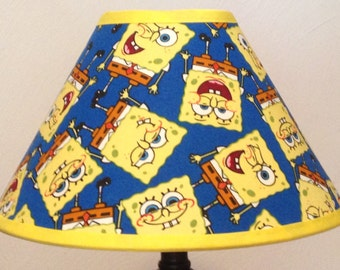 Spongebob Squarepants Custom Fabric Children's Lamp Shade/Children's Gift FREE SHIPPING