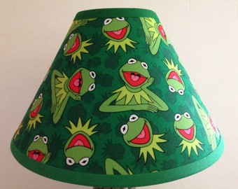 Kermit the Frog Sesame Street Fabric Children's Lamp Shade/Children's Gift FREE SHIPPING