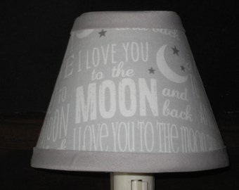 Love You to the Moon & Back Fabric Nursery Nightlight /Baby GiftFREE SHIPPING