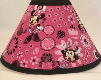 Disney Minnie Mouse Pink Fabric Children's Lamp Shade/Children's Gift/Minnie Mouse Room Decor FREE SHIPPING