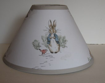 Peter Rabbit Fabric Nursery Lamp Shade/Nursery Decor/Baby Shower Gift FREE SHIPPING