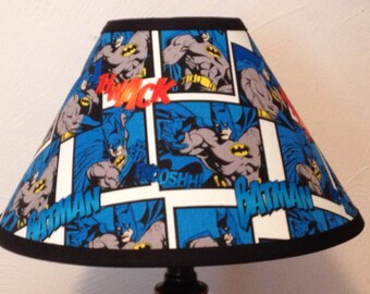 Batman Fabric Childrens Lamp Shade/Children's Gift FREE SHIPPING