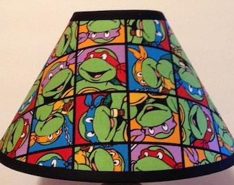 Teenage Mutant Ninja Turtles Children's Fabric Lamp Shade/Children's Gift FREE SHIPPING