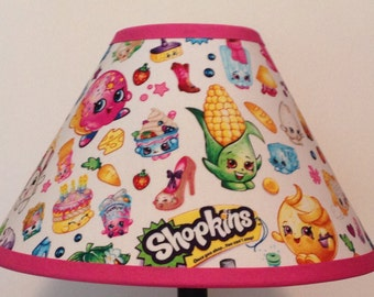 Shopkins Allover Toss Children's Fabric Lamp Shade/Children's Gift FREE SHIPPING