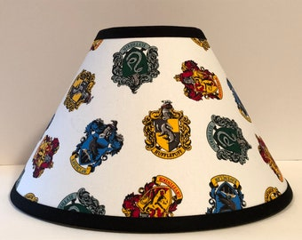 Harry Potter Hogwarts House Crests Fabric Children's Lamp Shade FREE SHIPPING