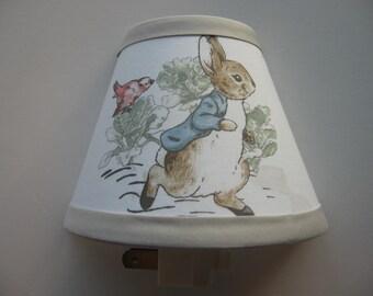 Peter Rabbit Fabric Nursery Night Light/Baby Shower Gift FREE SHIPPING