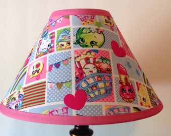 Shopkins Patchwork Children's Fabric Lamp Shade/Children's Gift FREE SHIPPING