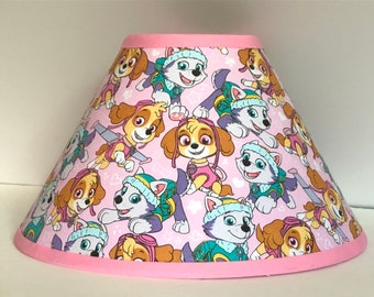 Pink Paw Patrol Children's Fabric Lamp Shade/Children's Gift FREE SHIPPING