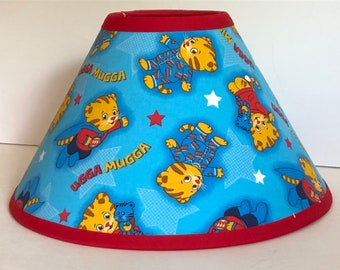Blue Daniel Tiger Children's Fabric Lamp Shade/Children's Gift FREE SHIPPING
