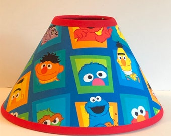 Sesame Street Children's Fabric Lamp Shade/Children's Gift FREE SHIPPING