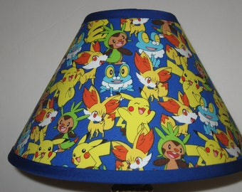 Pokemon Fabric Children's Lamp Shade/Children's Gift FREE SHIPPING