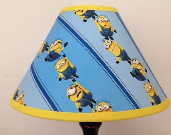 Disney Minions Children's Fabric Lamp Shade/Minions Lampshade/Children's Gift FREE SHIPPING